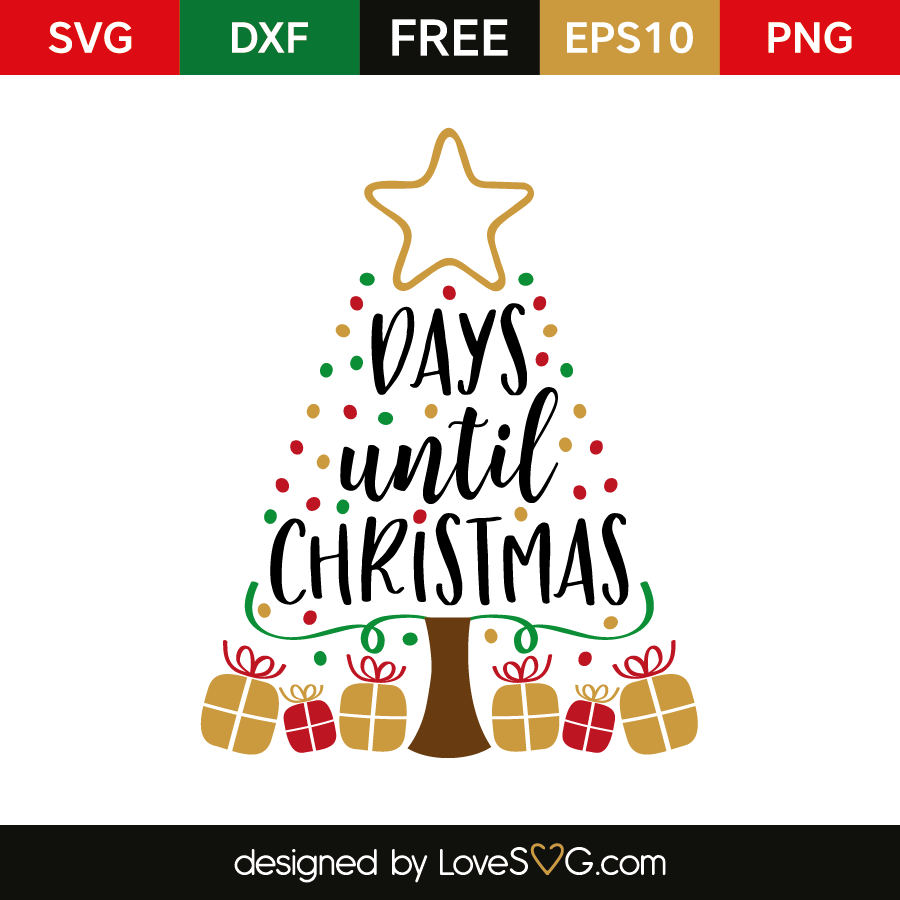 X days until Christmas – Lovesvg.com