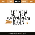 Free SVG cut file - Let new adventures begin