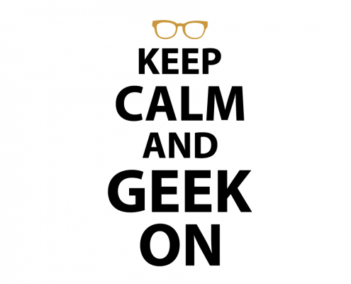 Free SVG cut file - Keep calm and geek on