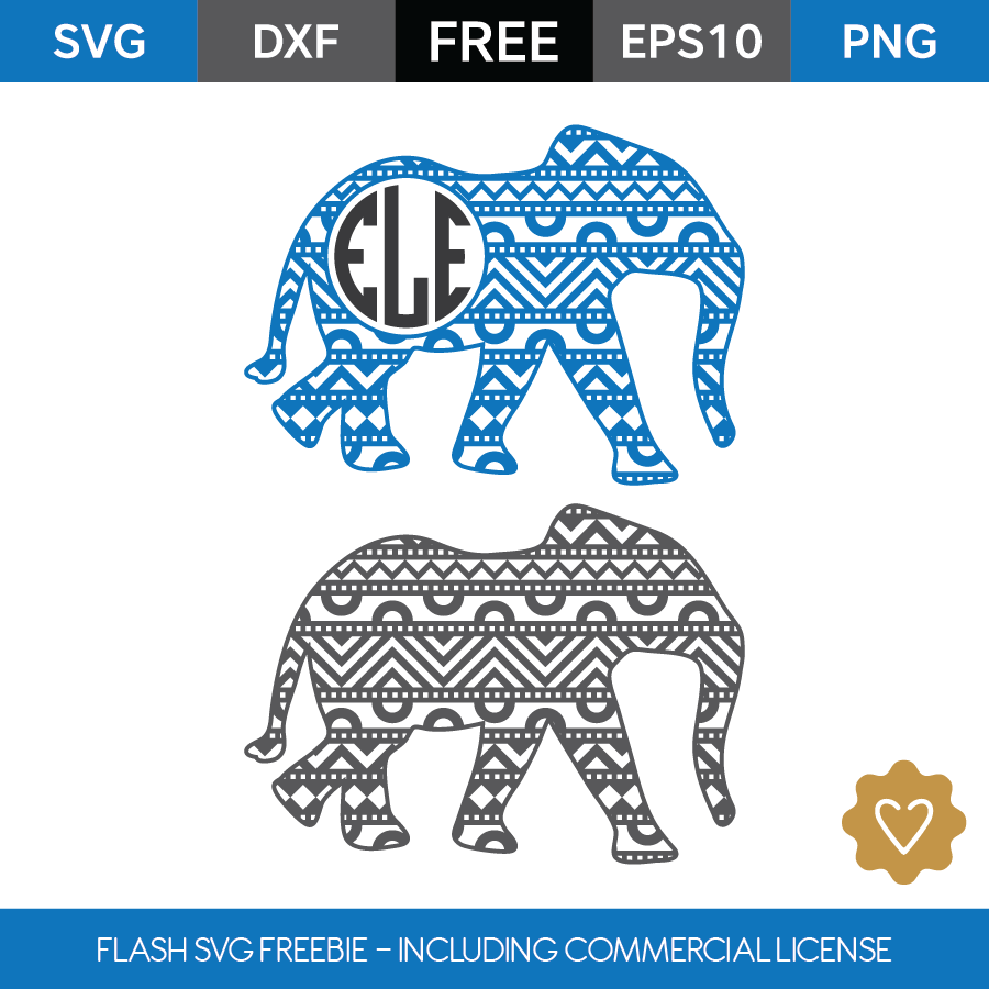 Elephant Monogram Frame