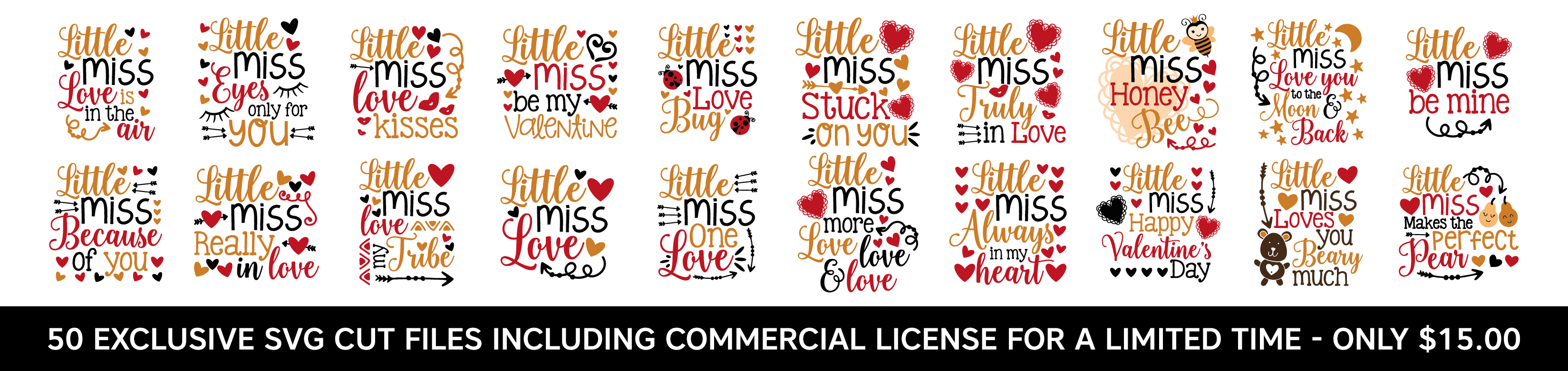 Exclusive Designs - Little Miss Valentine - Including Commerical License