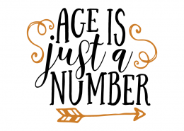 Free SVG cut file - Age is just a Number