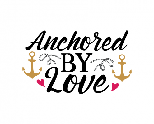 Free SVG cut file - Anchored by love
