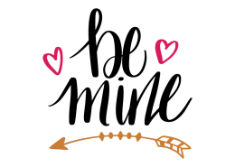 Free SVG cut file - Be mine
