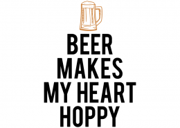Free SVG cut file - Beer makes my heart Hoppy