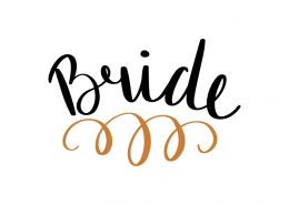 Free SVG cut file - Bride
