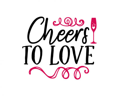 Free SVG cut file - Cheers to love