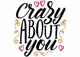 Free SVG cut file - Crazy about you