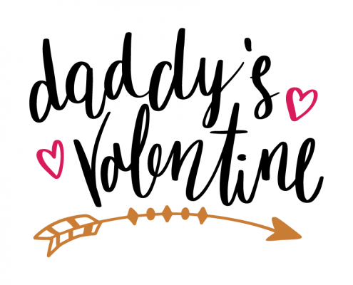 Free SVG cut file - Daddy's Valentine