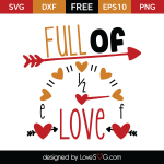 Free SVG cut file - Full of love