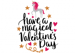 Free SVG cut file - Have a magical Valentine's Day