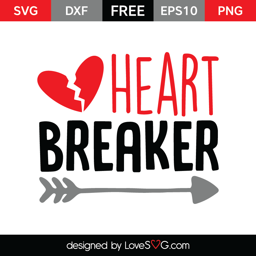 Free SVG cut file - Heart Breaker