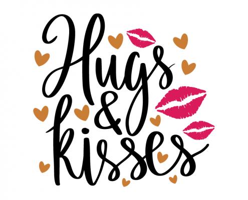 Free SVG cut file - Hugs and Kisses