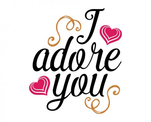 Free SVG cut file - I adore you