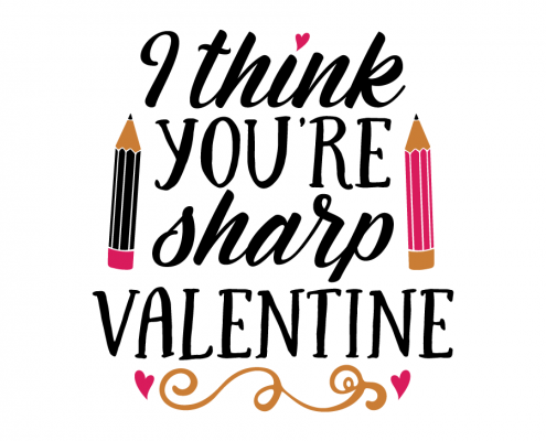 Free SVG cut file - I think you're sharp Valentine