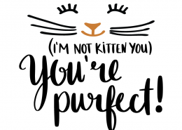 Free SVG cut file - I'm not kitten you You're Purfect