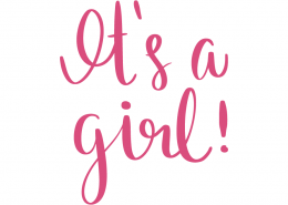 Free SVG cut file - It's a Girl