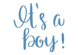Free SVG cut file - It's a boy