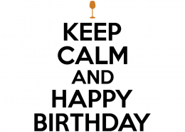 Free SVG cut file - Keep Calm and Happy Birthday