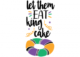 Free SVG cut file - Let them eat King Cake