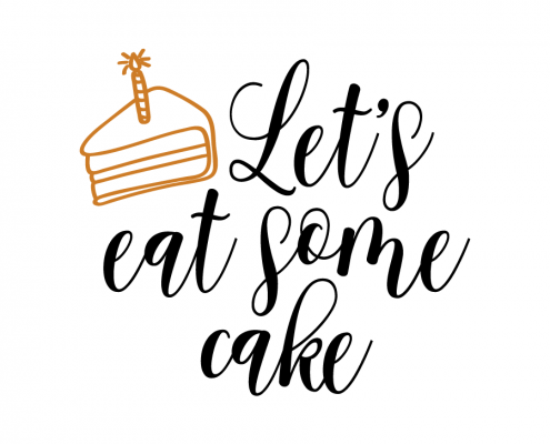 Free SVG cut file - Let's eat some cake