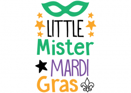 Free SVG cut file - Little Mister Mardi Gras