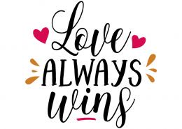 Free SVG cut file - Love always wins