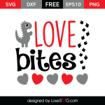 Free SVG cut file - Love bites