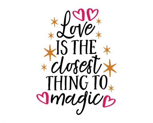 Free SVG cut file - Love is the closest thing to Magic