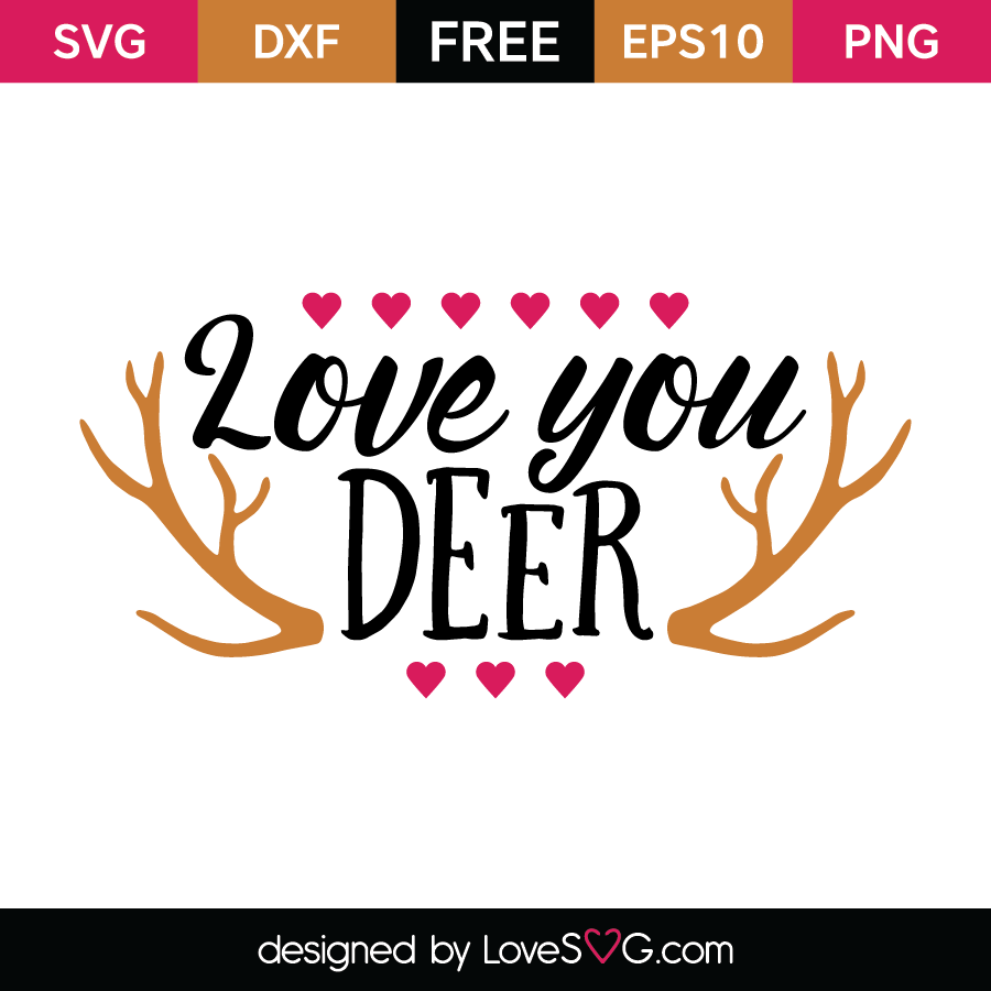 Download Love you deer | Lovesvg.com