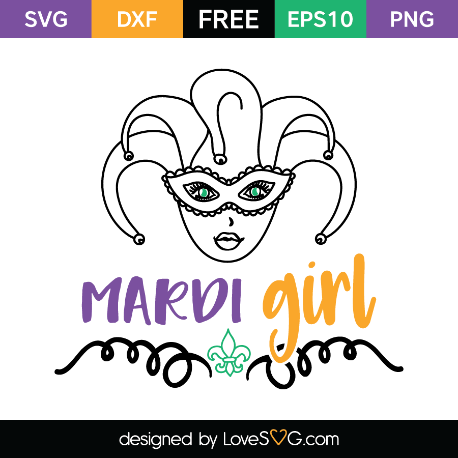 Free SVG cut file - Mardi Girl