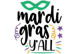 Free SVG cut file - Mardi Gras Y'all