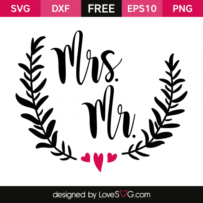 Free SVG cut file - Mrs. Ms
