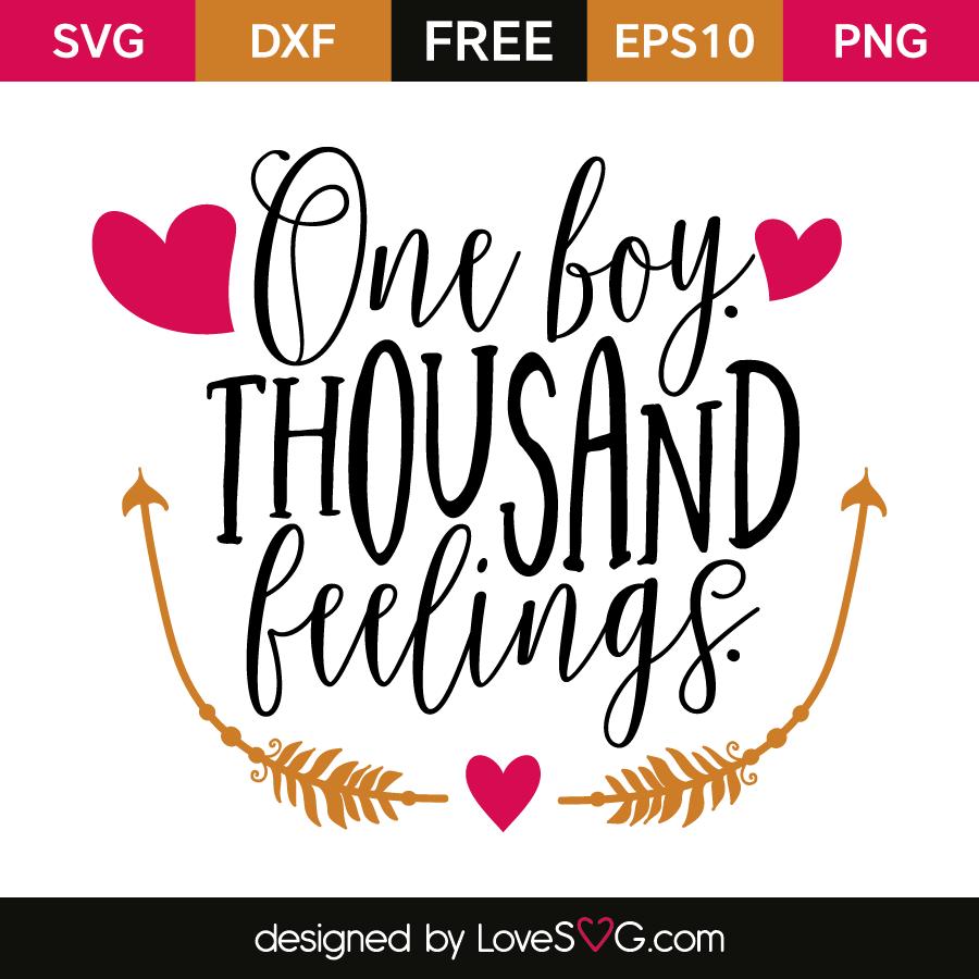 Free SVG cut file - One boy, Thousand feelings