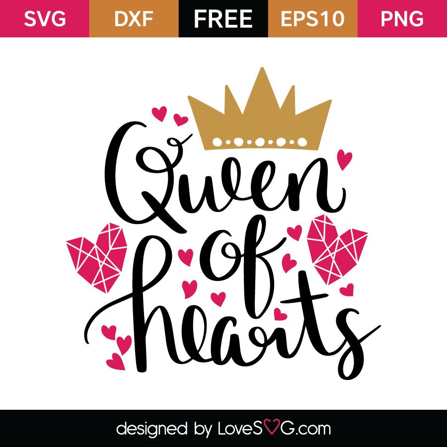 Queen of Hearts | Lovesvg.com