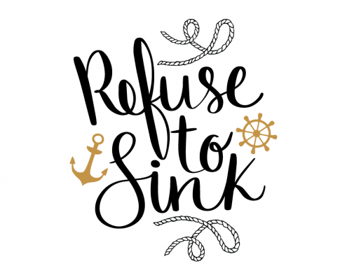 Free SVG cut file - Refuse to sink