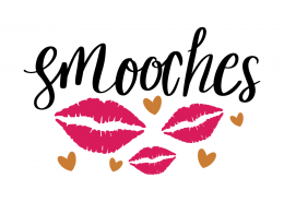 Free SVG cut file - Smooches