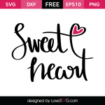 Free SVG cut file - Sweet Heart
