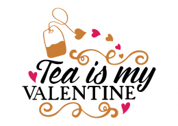 Free SVG cut file - Tea is my valentine