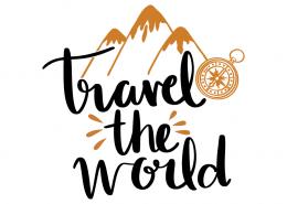 Free SVG cut file - Travel the world