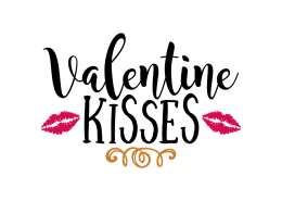 Free SVG cut file - Valentine Kisses