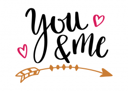 Free SVG cut file - You and Me