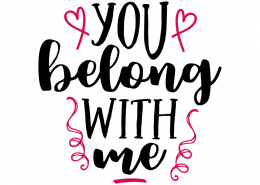 Free SVG cut file - You belong with me