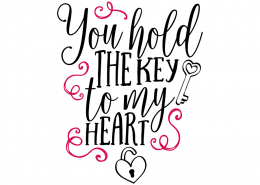 Free SVG cut file - You hold the key to my heart