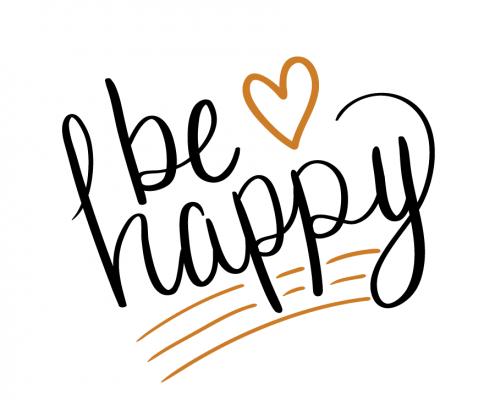 Free SVG cut files - Be happy