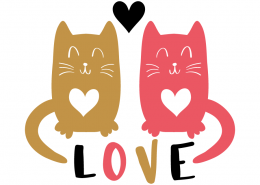Free SVG cut files - Cats in Love