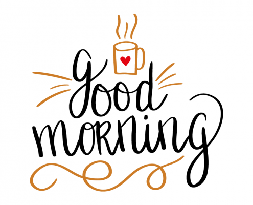 Free SVG cut files - Good Morning
