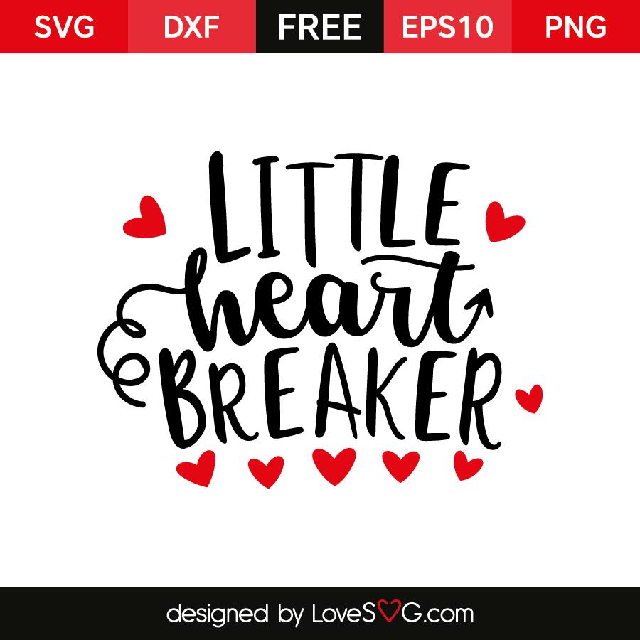 Free SVG cut files - Little heart Breaker