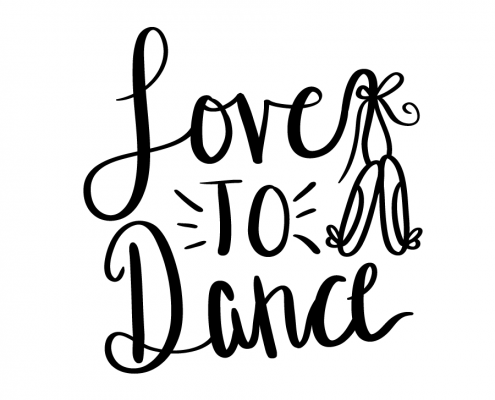 Free SVG cut files - Love to Dance