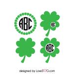 Free SVG cut file - St-Patrick's Monogram Frames